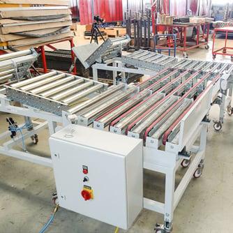 Riemenförderanlage Holzindustrie